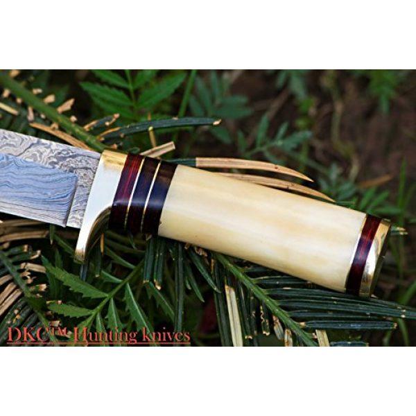 "DKC Knives Fixed Blade Survival Knife 4 DKC Knives (14 5/18) SALE DKC-30 ALASKA Damascus Steel Hunting Bowie Knife 10.5"" Long 5"" Blade 8oz"