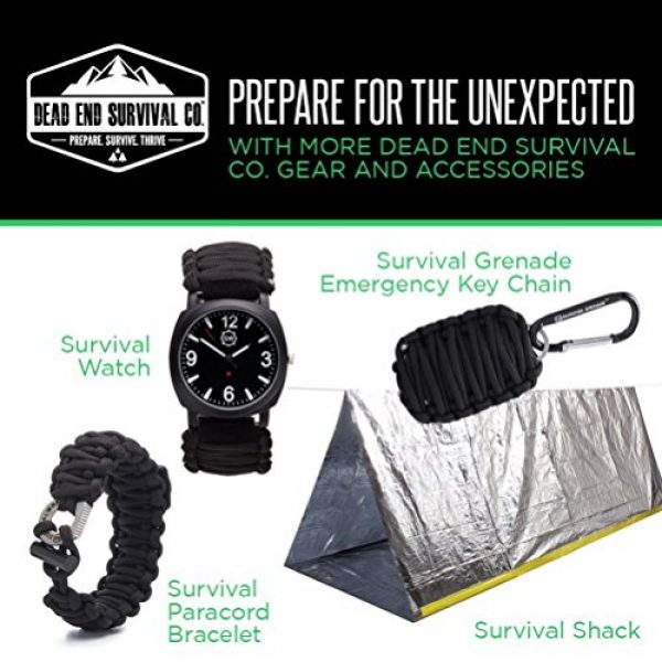 SharpSurvival Survival Fire Starter 7 Survival Spark Magnesium Survival Fire Starter with Compass and Whistle