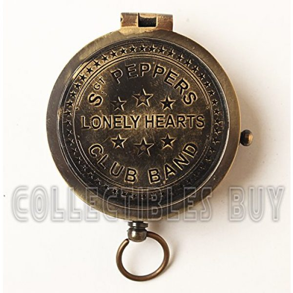collectiblesBuy Survival Compass 2 collectiblesBuy Antique Vintage Compass Pocket Brass Authentic Sailor, 2 inch, Brown