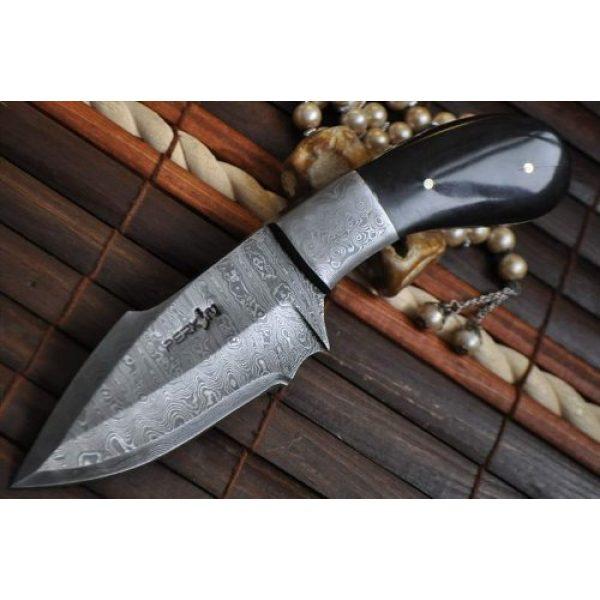 Perkin Fixed Blade Survival Knife 6 Perkin Knives - Handmade Damascus Hunting Knife