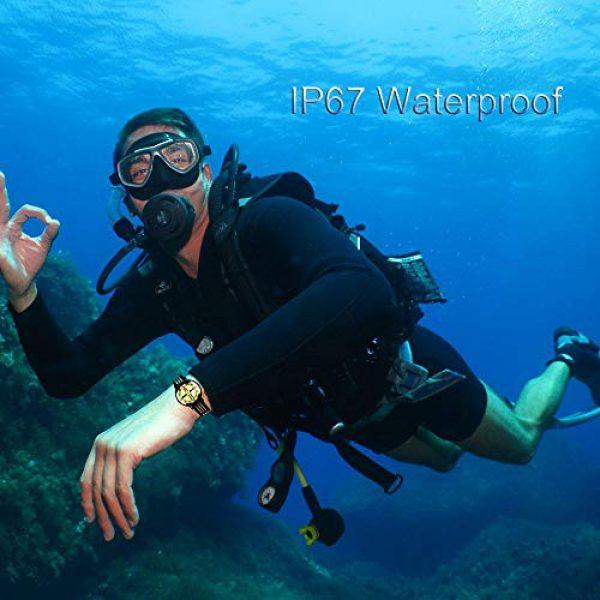 Kakuru Survival Compass 5 Kakuru Survival Fist Aid Wrist Compass, High Accuracy IP67 Waterproof Dustproof Luminous Watch Compass for Diving Hiking Outdoor Activities