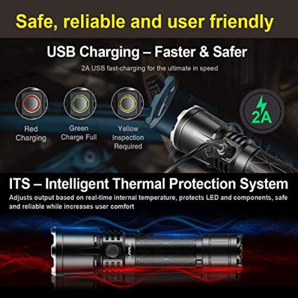 klarus Survival Flashlight 5 klarus XT21X 4000 Lumens Rechargeable Advanced Tactical Flashlight, Beam Reach 316m, CREE XHP70.2 P2 LED, 5000mAh IMR 21700 Battery, Super Bundle