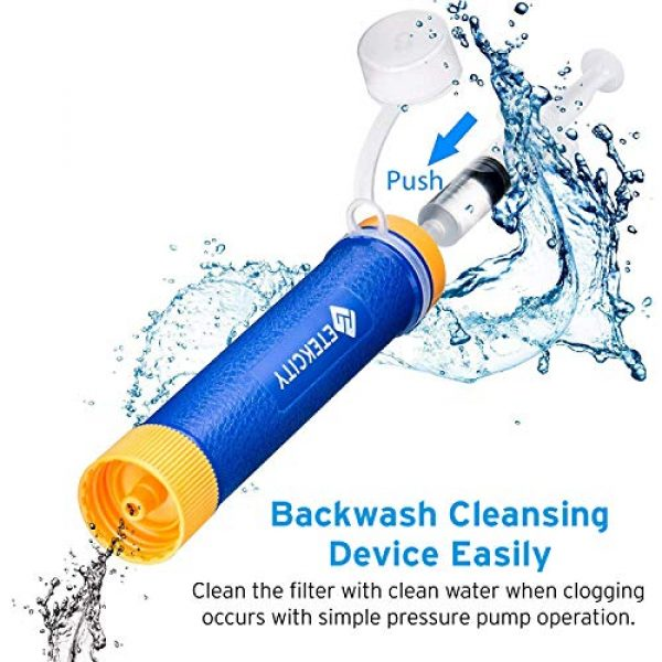 Etekcity Survival Water Filter 6 Etekcity Water Filter Straw Camping Water Purification Portable Water Filter Survival Kit for Camping, Hiking, Emergency, Hurricane for Fathers Day
