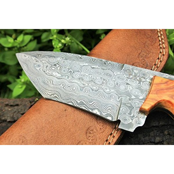 """DKC Knives Fixed Blade Survival Knife 3 DKC Knives (17 5/18) Sale DKC-85 Tomcat Damascus Skinner Hunting Knife 9"""" Long 4.5"""" Blade 11.2oz High Class Looks Incredible Feels Great in Your Hand and Pocket Hand Made"""