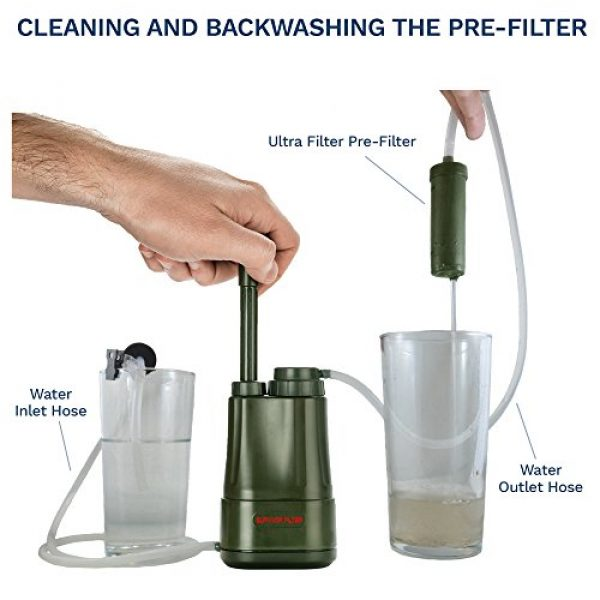 Survivor Filter Survival Water Filter 5 Survivor Filter PRO - Virus and Heavy Metal Tested 0.01 Micron Water Filter for Camping, Hiking, and Emergency. 3 Stages - 2 Cleanable 100,000L Membranes and a Carbon Filter for Family Preparedness