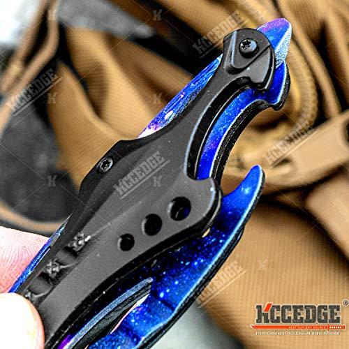 KCCEDGE BEST CUTLERY SOURCE  6 KCCEDGE BEST CUTLERY SOURCE Pocket Knife Camping Accessories Survival Kit Razor Sharp Survival Folding Knife w/Bottle Opener & Screw Driver Camping Gear EDC 55495