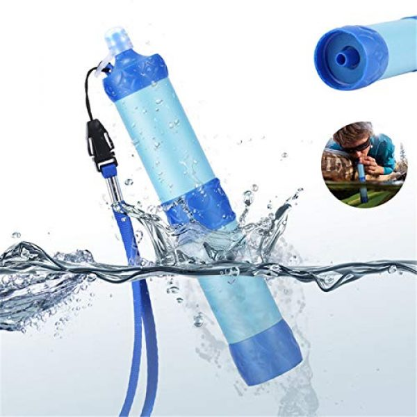 XIAOQIAO Survival Water Filter 4 XIAOQIAO Straw Water Filter, Hiking Water Purifier, Camping Straw Filter for Backpacking,Outdoor Water Filtration System Survival Gear for Camping Hiking Climbing and Emergency