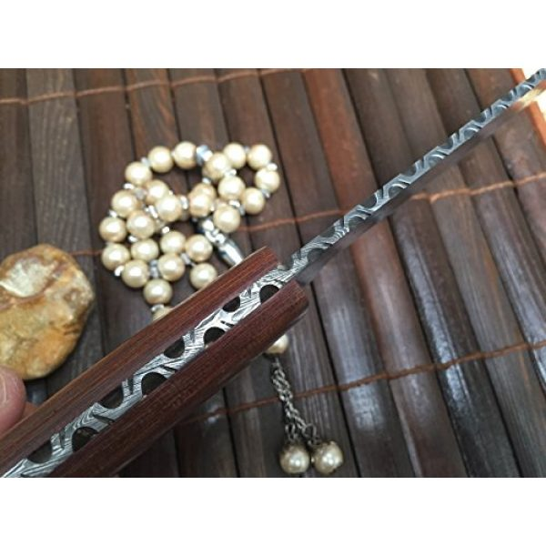 Perkin Fixed Blade Survival Knife 4 Perkin - Handmade Damascus Hunting Knife with Sheath