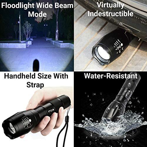 PeakPlus  2 PeakPlus LED Tactical Flashlight - Brightest Max 800 Lumens EDC Flashlight