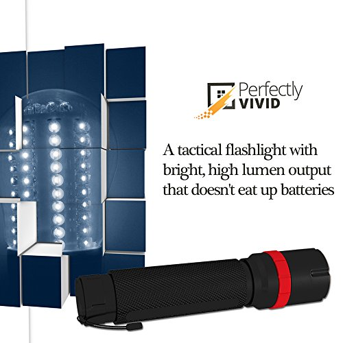 Perfectly Vivid  2 Perfectly Vivid Bright LED Tactical Flashlight With Focusing Lens Best High Lumen Output Waterproof Multiple Memory Mode