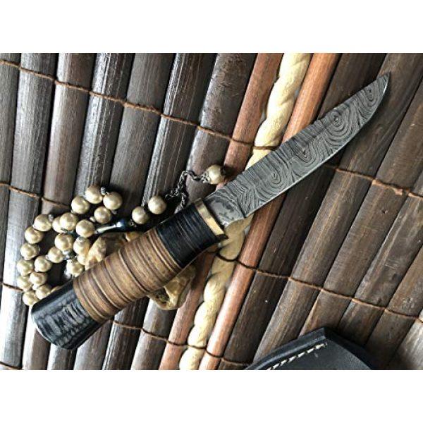 Perkin Fixed Blade Survival Knife 2 Perkin Handmade Knife Damascus Steel Hunting Knife with Sheath SK1900 Fix Blade Knife
