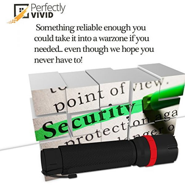 Perfectly Vivid Survival Flashlight 5 Perfectly Vivid Bright LED Tactical Flashlight With Focusing Lens Best High Lumen Output Waterproof Multiple Memory Mode, Aircraft Grade Aluminum Built To Last 100,000+ Hours! 100% Satisfaction Guaranteed