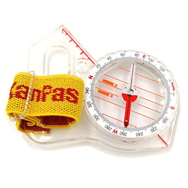 KanPas Survival Compass 2 Elite Thumb Orienteering Compass Fast Neddle Setting for Outdoor Adventure Map Reading
