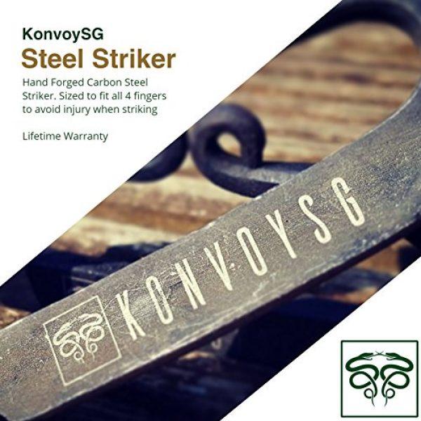 KonvoySG Survival Fire Starter 2 KonvoySG Carbon Steel Fire Striker Emergency Starter