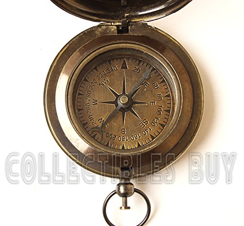 collectiblesBuy  4 Collectibles Buy Nautical Ross London Brass Round Pocket Compass Marine Navigational Royal Device Gift Item
