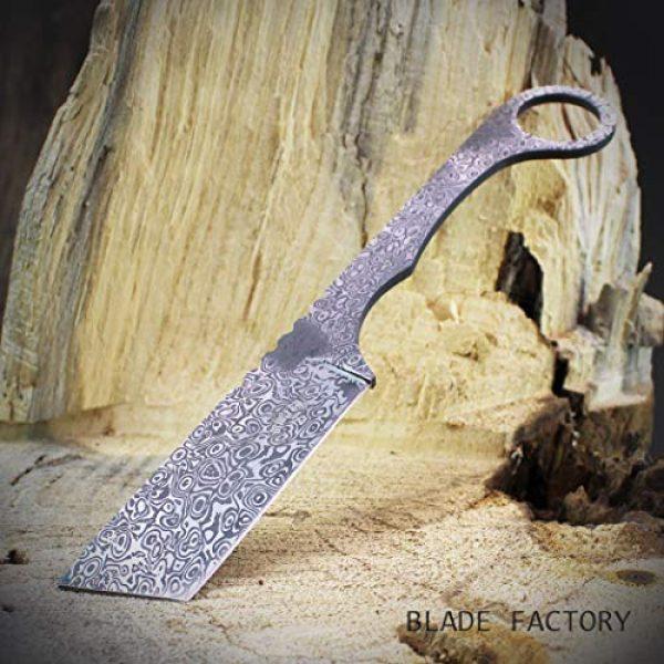 MASTER USA Fixed Blade Survival Knife 6 MASTER USA 8 Fixed Blade Straight Edge Tanto Knife with Sheath | Hunting Combat Camping Fishing | Damascus Style Straight Razor Design |