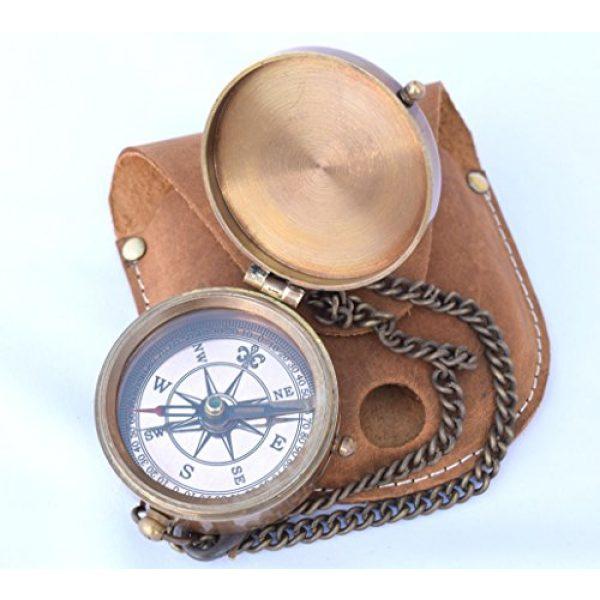 NEOVIVID Survival Compass 6 NEOVIVID Brass Pocket Compass, Engravable Compass, Camping Compass, Hiking Compass, Wedding Gifts
