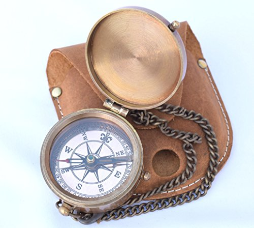 NEOVIVID Survival Compass 6 NEOVIVID Brass Pocket Compass, Engravable Compass, Camping Compass, Hiking Compass, Wedding Gifts