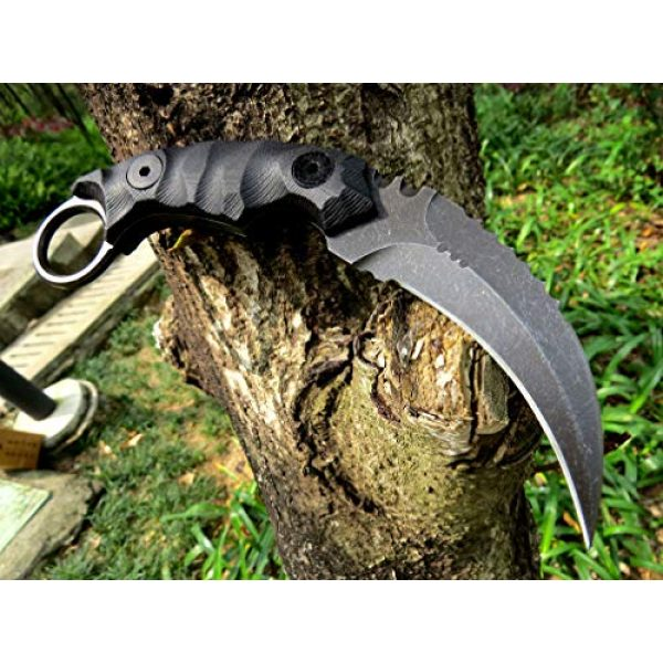 Canku Fixed Blade Survival Knife 3 Canku C1691 Fixed Blade Knife D2 Steel G10 Handle 4 Inches,Outdoor Survival Claw Tactical Teeth Knife,Camping EDC Tools, Kydex Sheaths