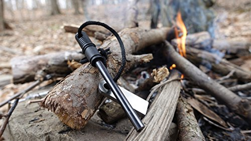 Schrade Survival Fire Starter 5 Schrade SCHFS1 4in Ferro Rod Fire Striker with Lanyard for Outdoor Survival, Camping and Emergency Situations