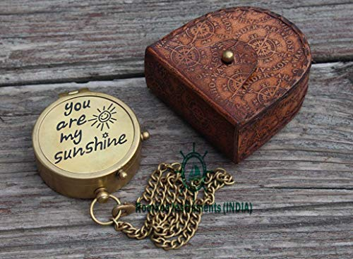 Roorkee Instruments India Survival Compass 4 RII You are My Sunshine Compass with Case/to My Son,Grandson,Daughter Gift (Thoreau Quote Inside The lid)