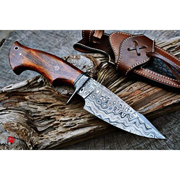 Bobcat Knives Fixed Blade Survival Knife 2 Bobcat Knives Custom Handmade Hunting Knife Bowie Knife Damascus Steel Survival Knife EDC 10'' Overall Walnut Wood with Sheath