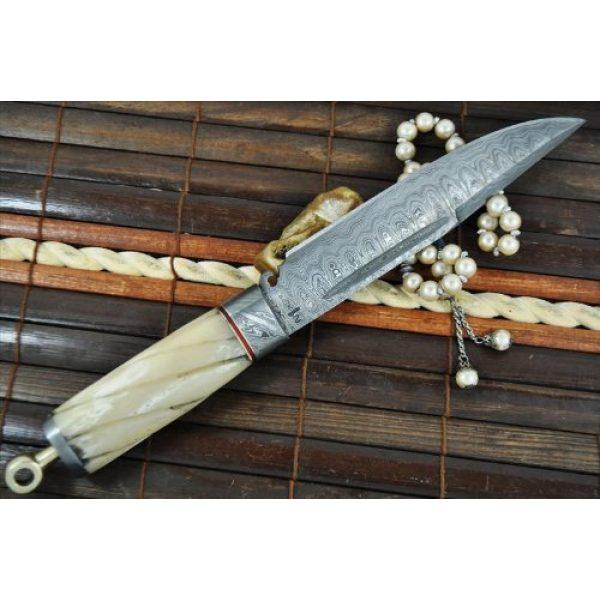 Perkin Fixed Blade Survival Knife 3 Perkin Knives - Custom Handmade Damascus Hunting Knife - Beautiful Camping Knife