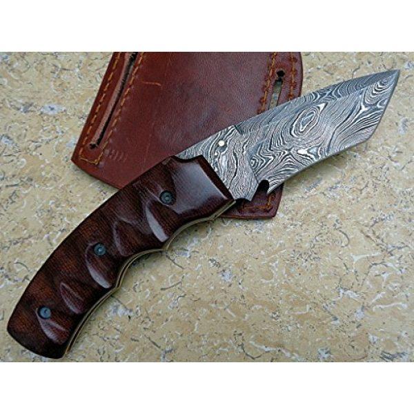 Knife King Premium Folding Survival Knife 3 Knife King Premium Custom Damascus Handmade Folding Knife. Linerlock. Comes with a Sheath.