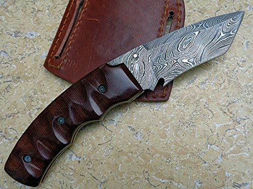 Knife King Premium  3 Knife King Premium Custom Damascus Handmade Folding Knife. Linerlock. Comes with a Sheath.