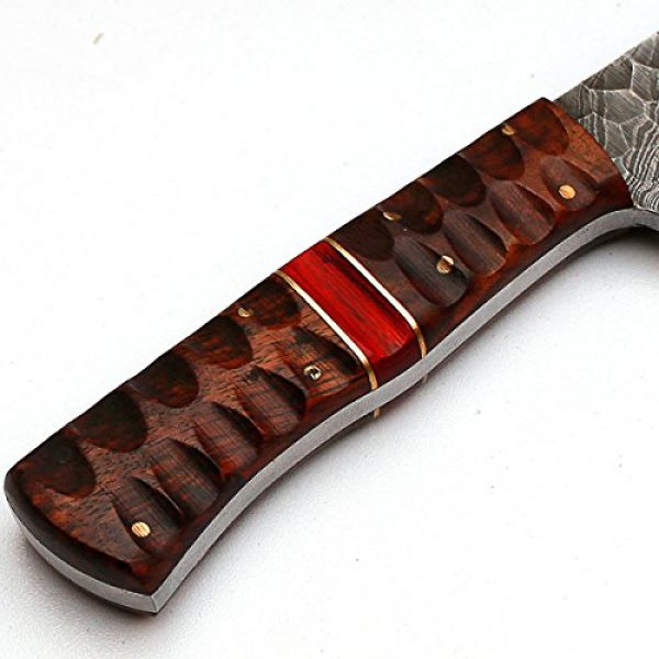 """PAL 2000 Fixed Blade Survival Knife 4 PAL 2000 """"8670"""" Damascus Steel Knife - Damascus Knife with Leather Sheath"""