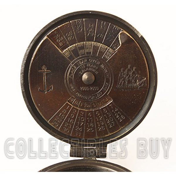collectiblesBuy Survival Compass 3 collectiblesBuy Brass Compass Vintage Finish Kelvin Hughes 100 Year Calendar Compasses lid Compass