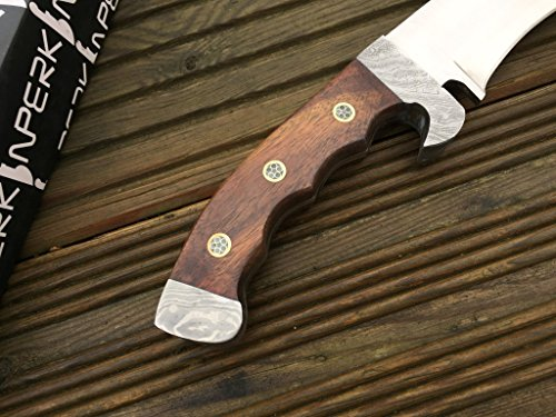 Perkin  5 Perkin - Hunting Knife with Leather Sheath - D2 Steel Blade