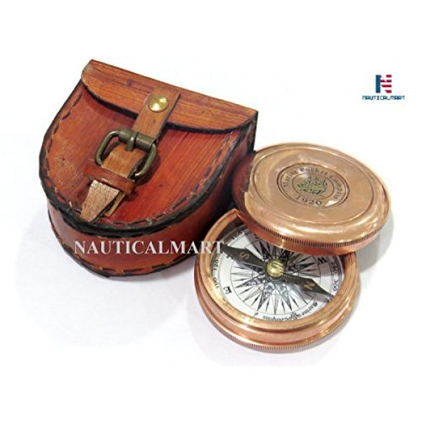 NauticalMart Survival Compass 4 NauticalMart Brass Compass - Poem Engraved Compass - Megnatic Compass - Unique Vintage Gift - Camping Compass - Boating Compass - Gift Compass - Graduation Day Gifts - Husband - Father - Keepsake