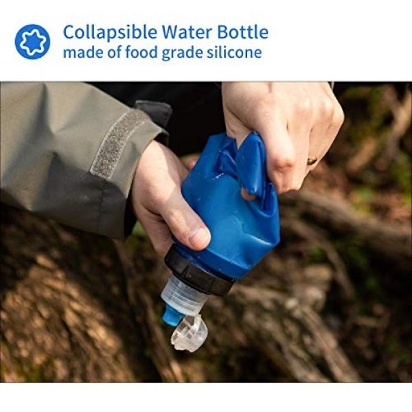 joypur Survival Water Filter 4 joypur Outdoor Filtered Water Bottle - BPA Free,with Filter Integrated 2 Stage Portable Water Bottle for Camping Travel Hiking Backpacking