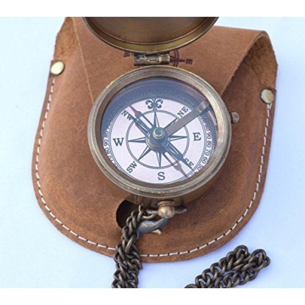 NEOVIVID Survival Compass 5 NEOVIVID Brass Pocket Compass, Engravable Compass, Camping Compass, Hiking Compass, Wedding Gifts