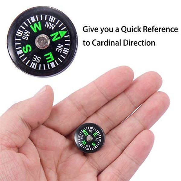 Wei Shang Survival Compass 4 Wei Shang 16Packs 20mm Mini Button Compasses Oil Filled for Camping Hiking Boating Survial Traveling