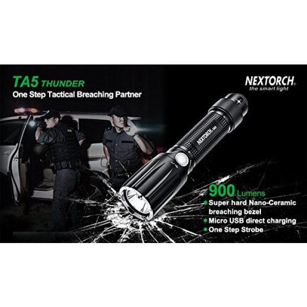 NEXTORCH Survival Flashlight 2 NEXTORCH TA5 Guardian 900 Lumen LED Duty Light, Safe Breaching with One Step Strobe Tail Cap Switch