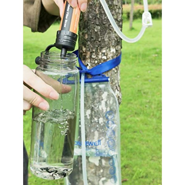 Purewell Survival Water Filter 7 Purewell Gravity High-Capacity Water Filtration System for Camping, Hiking and Emergency Preparedness