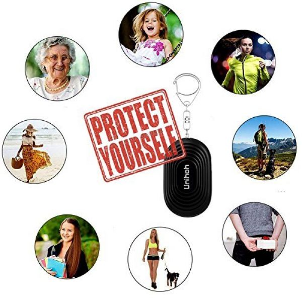 Unihoh Survival Alarm 6 130dB Safesound Personal Alarm Keychain, Siren Song, Emergency Alarm, Self Defence for Women Kids Girls Elderly, Security Sensor as Bag Decoration