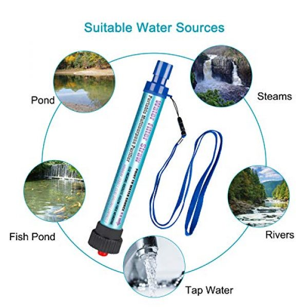 DOTSOG Survival Water Filter 4 DOTSOG Personal Water Filter Straw BPA Free with 2000L 4-Stage,Portable Water Purifier Lightweight for Hiking Camping Survival Outdoor Backpacking Traveling Emergencywith case