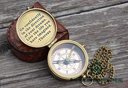 Roorkee Instruments India Survival Compass 3 RII You are My Sunshine Compass with Case/to My Son,Grandson,Daughter Gift (Thoreau Quote Inside The lid)