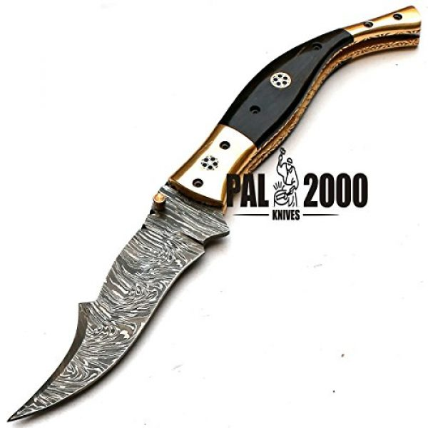 PAL 2000 KNIVES Fixed Blade Survival Knife 7 Custom Handmade Damascus Steel Hunting Folding Pocket Knife -Sword/Chef Kitchen Knife/Dagger/Full Tang/Skinner/Axe/Billet/Cleaver/Bar/Bowie/Kukri/knife accessories/survival/Camping With Sheath 8735