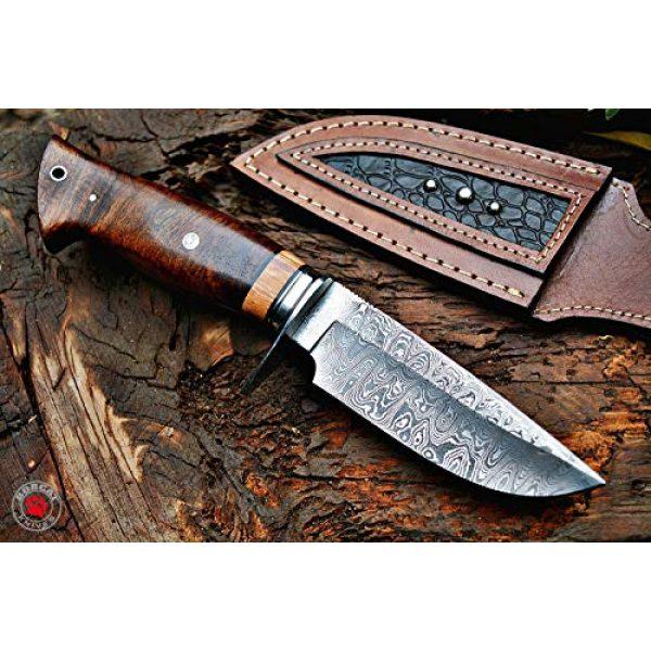 Bobcat Knives Fixed Blade Survival Knife 2 Bobcat Knives Desert Fox Custom Handmade Hunting EDC Knife Damascus Steel with Leather Sheath
