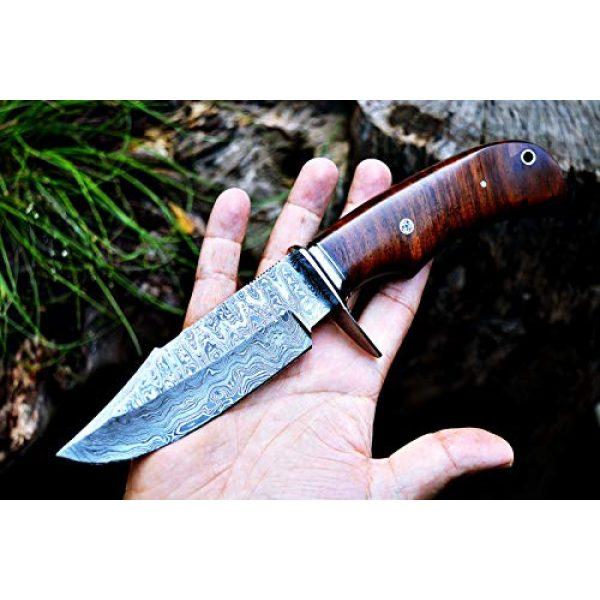 Bobcat Knives Fixed Blade Survival Knife 6 Bobcat Knives Custom Handmade Hunting Knife Bear Hunter Damascus Steel Overall 10''