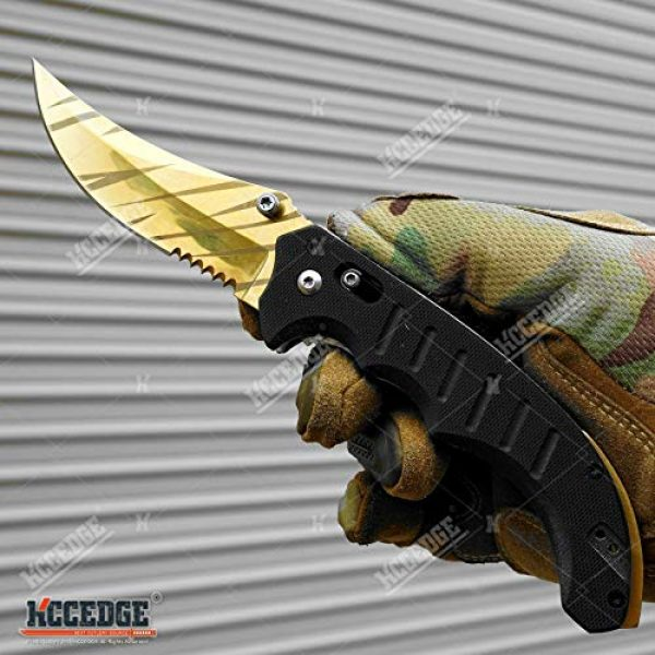 KCCEDGE BEST CUTLERY SOURCE Folding Survival Knife 2 KCCEDGE BEST CUTLERY SOURCE EDC Pocket Knife Camping Accessories Razor Sharp Edge Manual Open Folding Knife for Camping Gear Survival Kit Tactical Knife 51374
