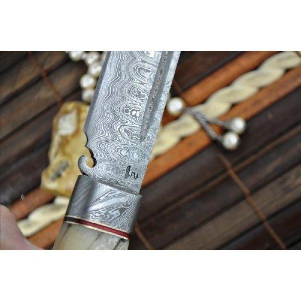 Perkin Fixed Blade Survival Knife 7 Perkin Knives - Custom Handmade Damascus Hunting Knife - Beautiful Camping Knife