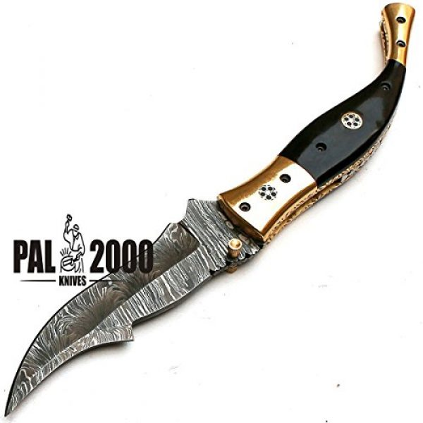 PAL 2000 KNIVES Fixed Blade Survival Knife 6 Custom Handmade Damascus Steel Hunting Folding Pocket Knife -Sword/Chef Kitchen Knife/Dagger/Full Tang/Skinner/Axe/Billet/Cleaver/Bar/Bowie/Kukri/knife accessories/survival/Camping With Sheath 8735