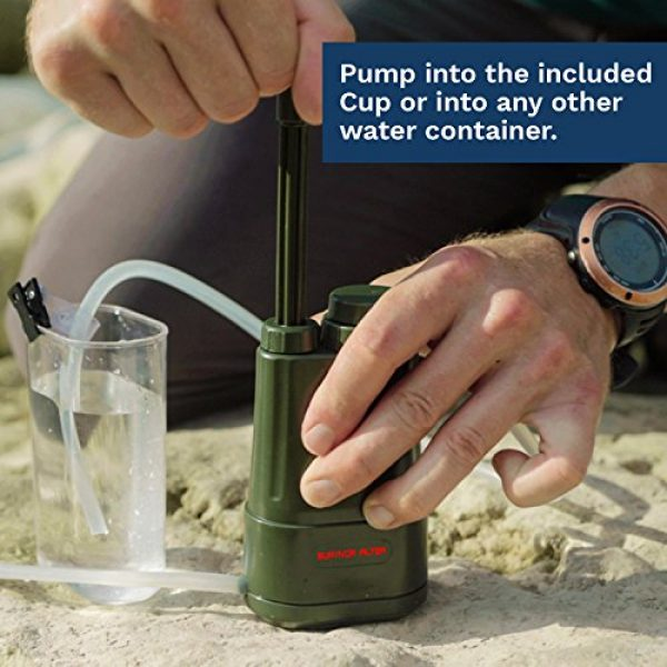 Survivor Filter Survival Water Filter 4 Survivor Filter PRO - Virus and Heavy Metal Tested 0.01 Micron Water Filter for Camping, Hiking, and Emergency. 3 Stages - 2 Cleanable 100,000L Membranes and a Carbon Filter for Family Preparedness