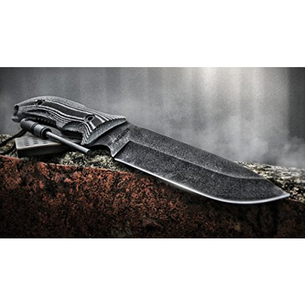 Schrade Fixed Blade Survival Knife 4 Schrade SCHF37 Frontier 12.4in High Carbon Steel Full Tang Fixed Blade Knife with 7in Drop Point and TPE Handle for Outdoor Survival, Camping and Bushcraft