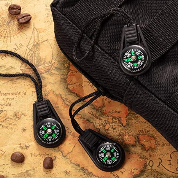 BBTO Survival Compass 6 BBTO 100 Pieces Mini Survival Compass Outdoor Camping Hiking Pocket Compass Liquid Filled Mini Compass for Paracord Bracelet Necklace Key Chain